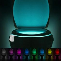 Toilet Night Light Body Sensing Motion Activated Bathroom 8