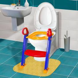 Baby Trainer Toilet Potty Seat Chair Kids Toddler Ladder Ste