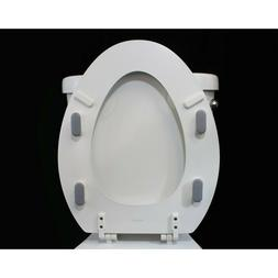 Toilet Seat Bumpers Adhesive Pads 4 Oblong Pieces Gray Botto