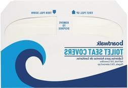 Boardwalk Toilet Seat Cover - 16 Width x 3 Length - Half-fol
