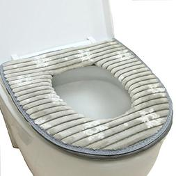 Toilet Seat Cover, Washable Toilet Seat Cushion Mat Winter V