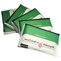 Toilet Seat Covers Pack of 50 Travel Size Disposable Bio deg