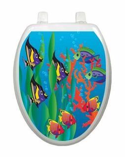 Toilet Tattoos Toilet Seat Decoration Under the Sea Fish Toi