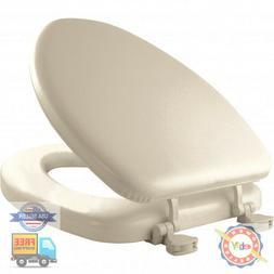 Mayfair  Elongated  Bone  Vinyl  Cushioned Toilet Seat