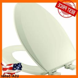 Bemis Toilet Seat Elongated Close Front Wood With Easy Clean