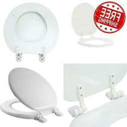TOILET SEAT Front Round Closed Standard Replacement Wood Sea