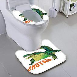 aolankaili Toilet seat Grumpy Alligator Has A Word Gator Cro
