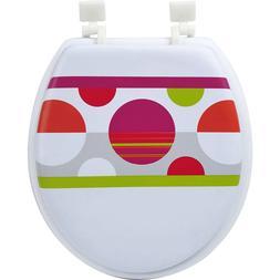 "Toilet Seat Printed Round Soft  Foam Design 15.5"" L X 14.25"""