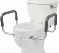 Vive Toilet Seat Riser w/ Handles - Raised Toilet Seat w/ Pa