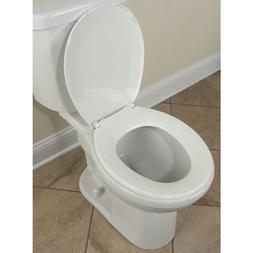 """Toilet Seat Round Plastic Front Toilets 16.5"""" Bathroom White"""