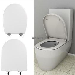 Toilet Seat w/ Cover U/O Shape Soft Close Quick Release Easy