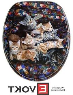 Sanilo Toilet Seat WC Beautiful Cats Kitty Design Genuine An