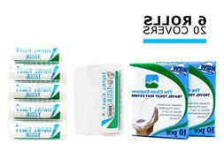 Travel Toilet Tissue Paper  + Bonus 20 toilet seat covers |