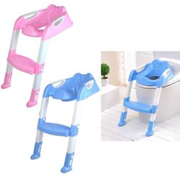 Trainer Toilet Potty Seat Chair Kids Toddler With Ladder Ste