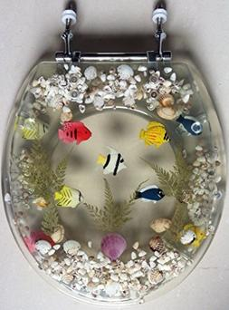 transparent fish aquarium toilet seat