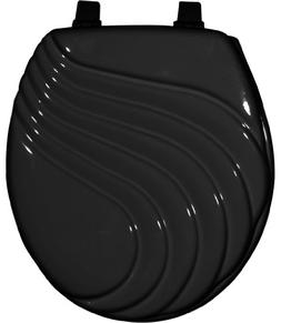 Home Dynamix TSP107-450 Painted Toilet Seat, 17-Inch, Black