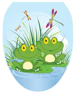 Toilet Tattoos TT-1055-O Floating Frogs, Elongated