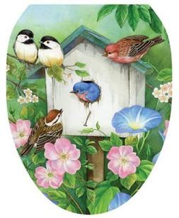 Toilet Tattoos TT-1075-O Blooming Birdhouse, Elongated