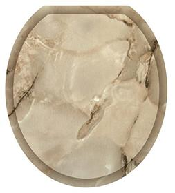 Toilet Tattoos, Toilet Seat Cover Decal,Taupe Marble, Size R