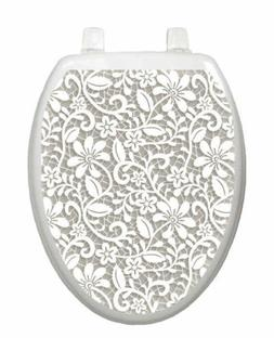 Toilet Tattoos, Toilet Seat Cover Decal,Lovely Lace, Size Eo