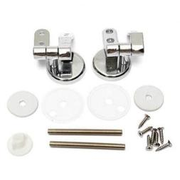 Universal Chrome On Metal Replacement Toilet Seat Hinges Fix