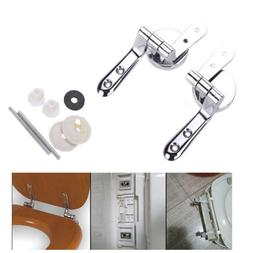 Universal Set  Alloy Toilet Seat Replacement Repair Chrome H