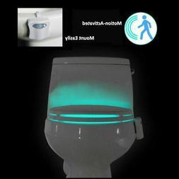 USA 8-Color Toilet Night Light LED Motion Sensing Automatic