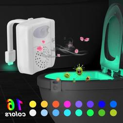 UV Sterilizer Toilet Night Light 16 Colors Motion Activated