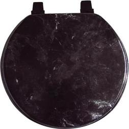 Home Dynamix VMR-450 Veneer Marble Toilet Seat, 17-Inch, Bla