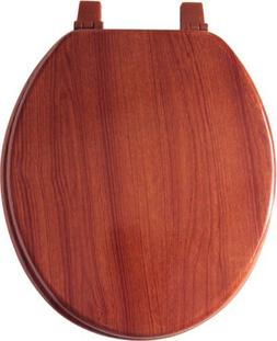 Home Dynamix VWO-207 Veneer Wood Toilet Seat, 17-Inch, Cherr