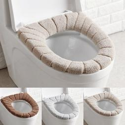 Washable Bathroom Toilet Seat Filling Soft Warmer Mat Cover