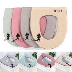 Washable Toilet Seat Lid Top Cover Pad Mat Bathroom Warmer C