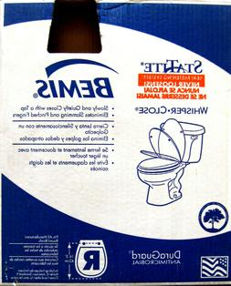 🚽 BEMIS WHISPER-CLOSE Never Loose Round Toilet Seat ~ Chr
