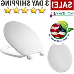 White Toilet Seat Wood Round High Quality Bathroom Wood Easy