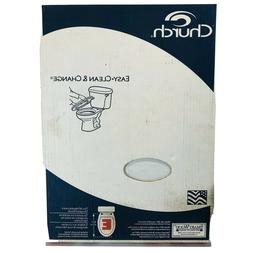 White Wood Elongated Toilet Seat Easy Clean Durable Scratch