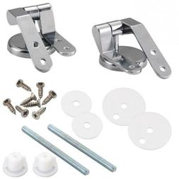 Zinc Alloy Toilet Seat Replacement Repair Chrome Hinge Set U